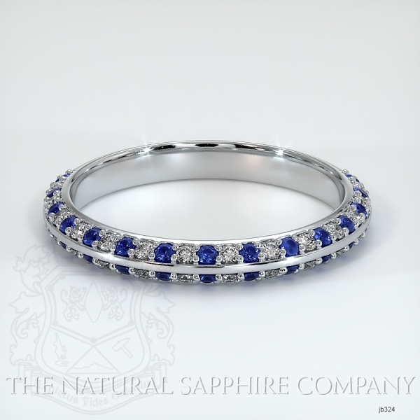 Calla Blue Sapphire And Diamond Wedding Band JB324 Image