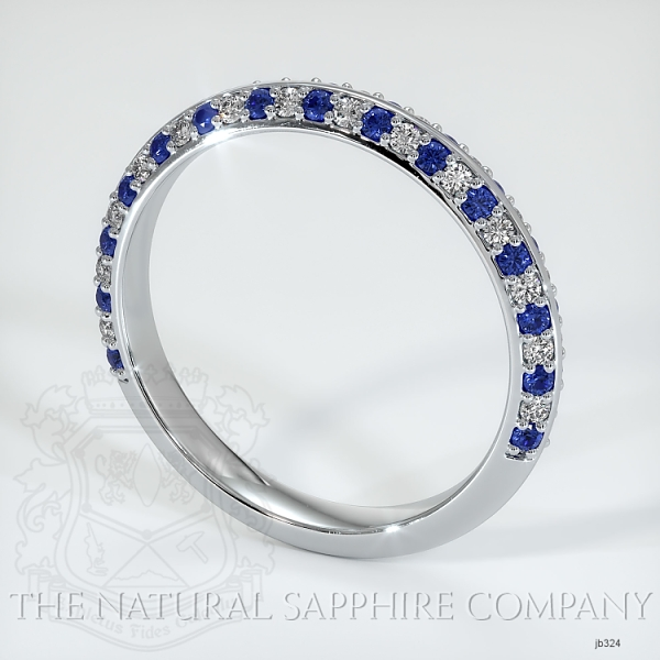 Calla Blue Sapphire And Diamond Wedding Band JB324 Image 2