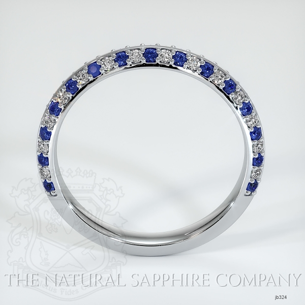 Calla Blue Sapphire And Diamond Wedding Band JB324 Image 3