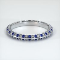 18K White Gold Gemstone Band - JB324W18