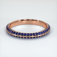 14K Rose Gold Gemstone Band - JB326R14