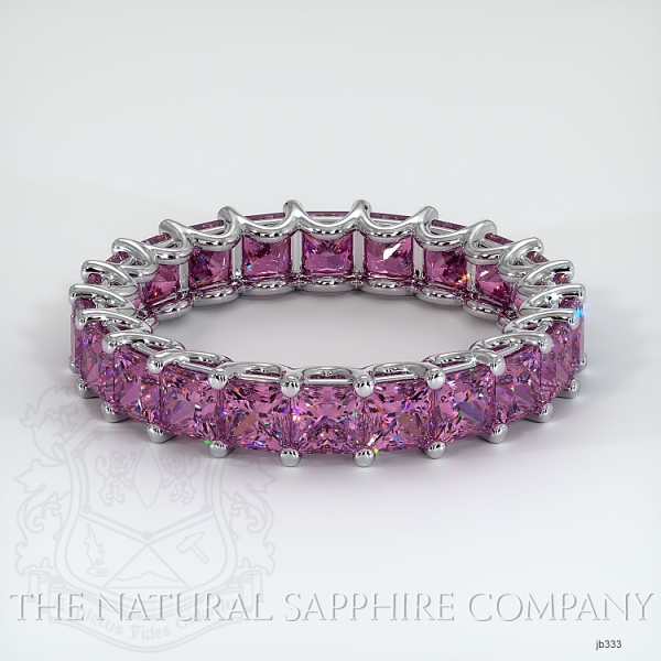 Princess Cut Loop Pink Sapphire Eternity Wedding Band JB333 Image