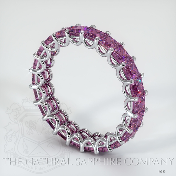 Princess Cut Loop Pink Sapphire Eternity Wedding Band JB333 Image 2