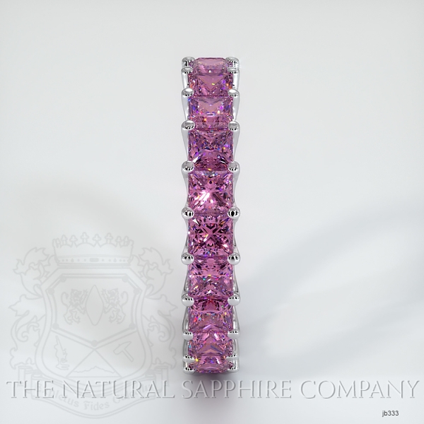 Princess Cut Loop Pink Sapphire Eternity Wedding Band JB333 Image 4