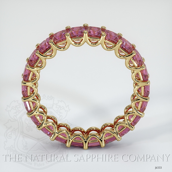 Princess Cut Loop Pink Sapphire Eternity Wedding Band JB333 Image 3