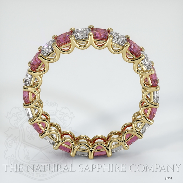 Princess Cut Loop Pink Sapphire And Diamond  Eternity Wedding Band JB334 Image 3