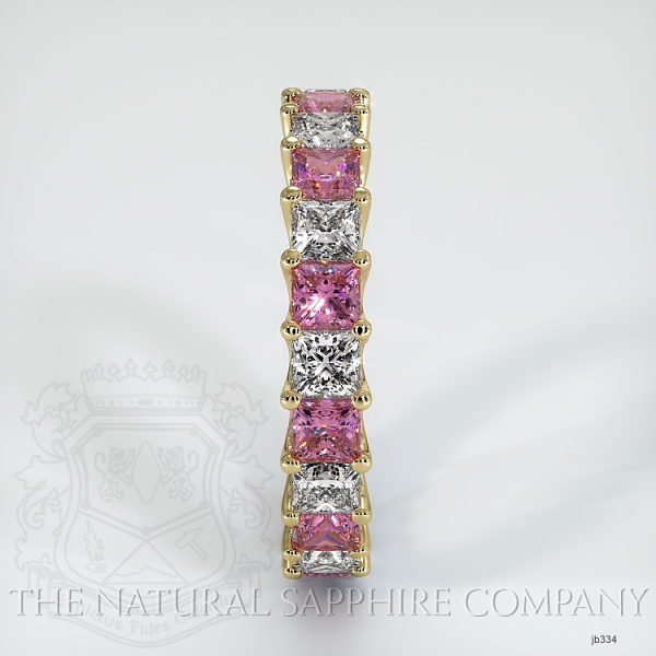 Princess Cut Loop Pink Sapphire And Diamond  Eternity Wedding Band JB334 Image 4