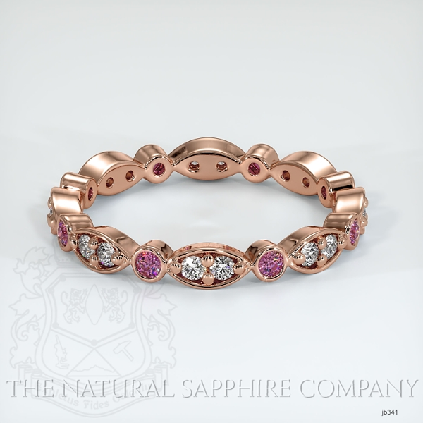 Tiara Eternity Pink Sapphire And Diamond Wedding Diamond JB341 Image