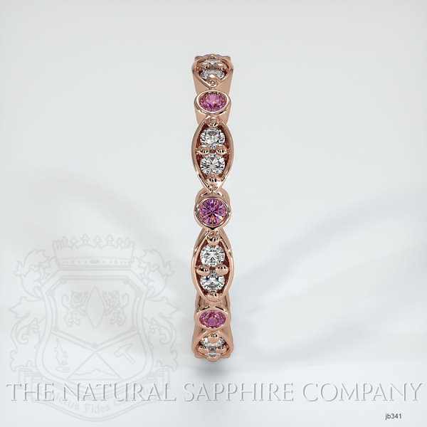 Tiara Eternity Pink Sapphire And Diamond Wedding Diamond JB341 Image 4
