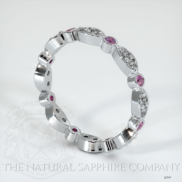 Tiara Eternity Pink Sapphire And Diamond Wedding Diamond JB341 Image 2