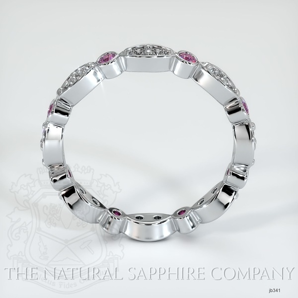 Tiara Eternity Pink Sapphire And Diamond Wedding Diamond JB341 Image 3