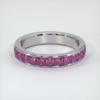 14K White Gold Gemstone Band - JB347W14
