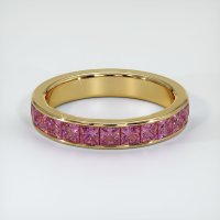 18K Yellow Gold Gemstone Band - JB347Y18
