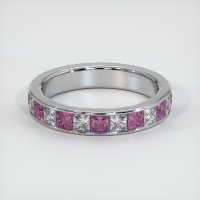 14K White Gold Gemstone Band - JB351W14