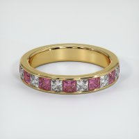 18K Yellow Gold Gemstone Band - JB351Y18