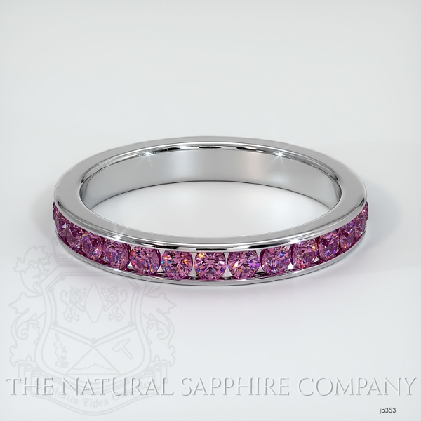 Channel Set Pink Sapphire Eternity Wedding Band JB353 Image