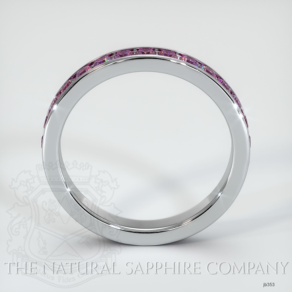 Channel Set Pink Sapphire Eternity Wedding Band JB353 Image 3