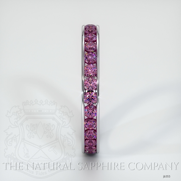 Channel Set Pink Sapphire Eternity Wedding Band JB353 Image 4