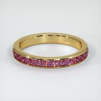 18K Yellow Gold Gemstone Band - JB353Y18