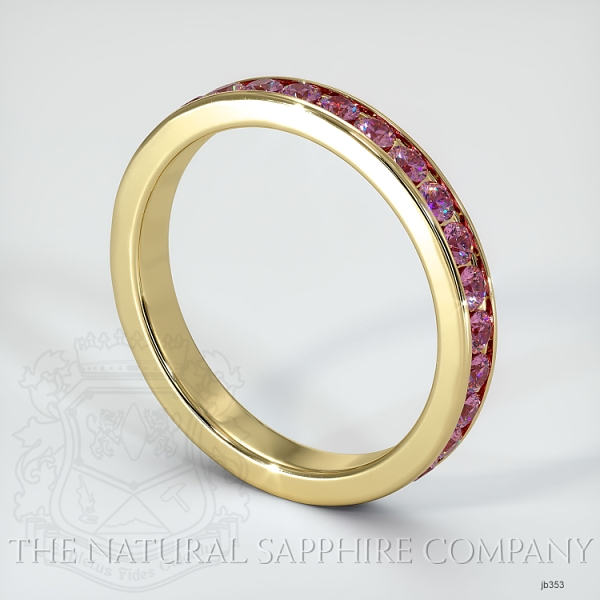 Channel Set Pink Sapphire Eternity Wedding Band JB353 Image 2