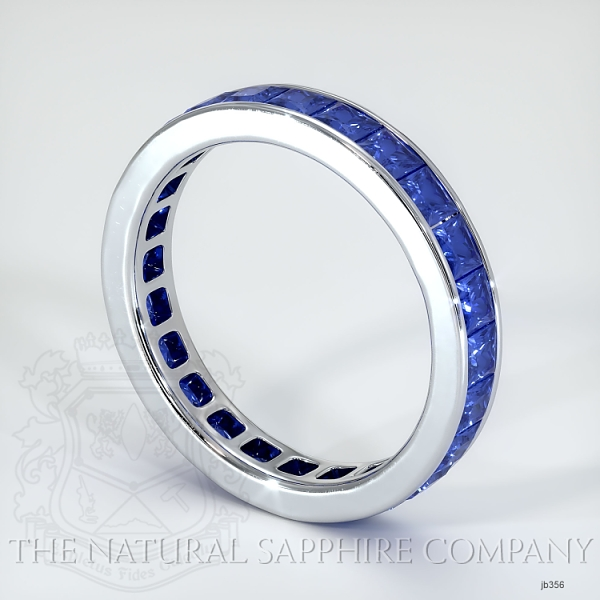 Princess Cut Channel Set Blue Sapphire Eternity Wedding Band JB356 Image 2