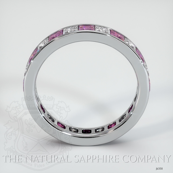 Princess Cut Channel Set  Pink Sapphire And Diamond Eternity  Wedding Band JB358 Image 3