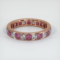 14K Rose Gold Gemstone Band - JB358R14