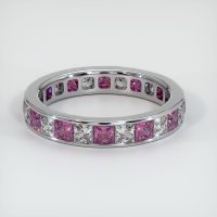 18K White Gold Gemstone Band - JB358W18