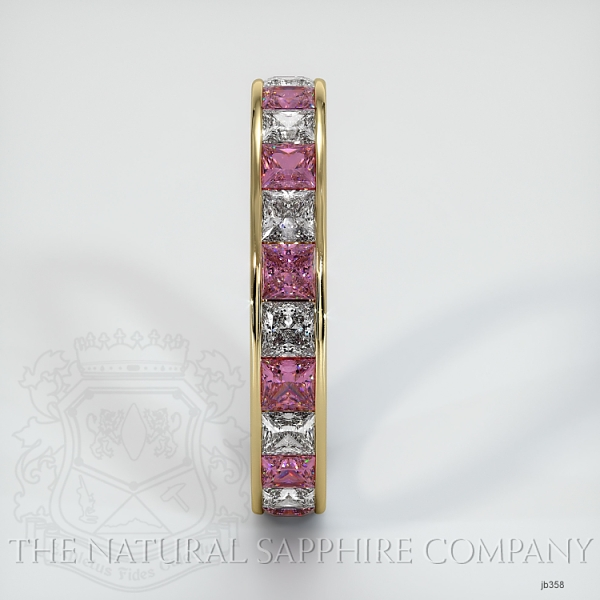 Princess Cut Channel Set  Pink Sapphire And Diamond Eternity  Wedding Band JB358 Image 4