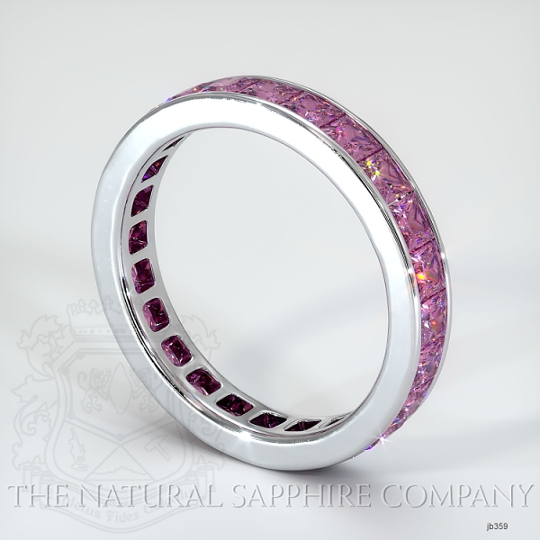 Princess Cut Channel Set Pink Sapphire Eternity  Wedding Band JB359 Image 2