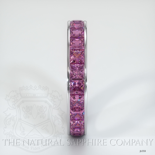 Princess Cut Channel Set Pink Sapphire Eternity  Wedding Band JB359 Image 4
