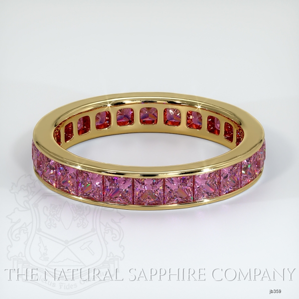 Princess Cut Channel Set Pink Sapphire Eternity  Wedding Band JB359 Image