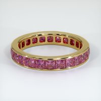 18K Yellow Gold Gemstone Band - JB359Y18