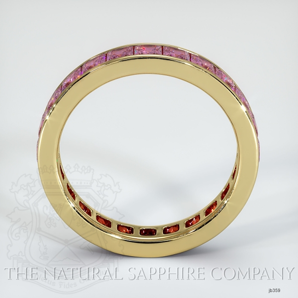 Princess Cut Channel Set Pink Sapphire Eternity  Wedding Band JB359 Image 3
