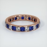 14K Rose Gold Gemstone Band - JB361R14