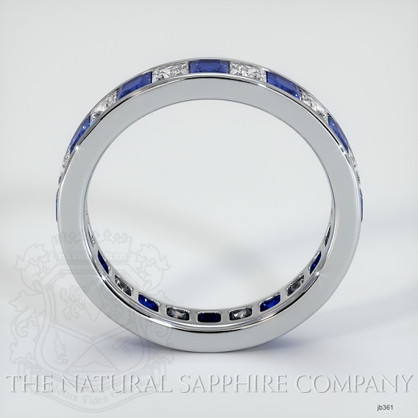 Princess Cut Channel Set Blue Sapphire And Diamond Eternity  Wedding Band JB361 Image 3