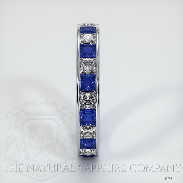 Princess Cut Channel Set Blue Sapphire And Diamond Eternity  Wedding Band JB361 Image 4