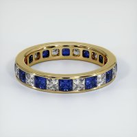 18K Yellow Gold Gemstone Band - JB361Y18