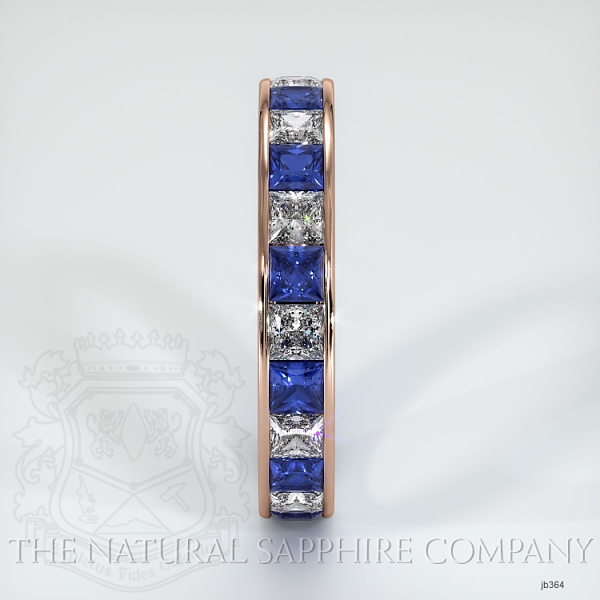 Princess Cut Channel Set Blue And White Sapphire Eternity  Wedding Band JB364 Image 4