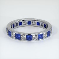 14K White Gold Gemstone Band - JB364W14