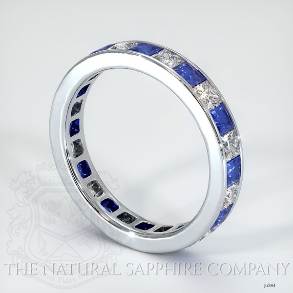 Princess Cut Channel Set Blue And White Sapphire Eternity  Wedding Band JB364 Image 2