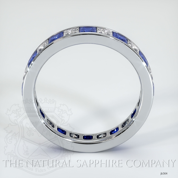 Princess Cut Channel Set Blue And White Sapphire Eternity  Wedding Band JB364 Image 3