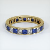 18K Yellow Gold Gemstone Band - JB364Y18
