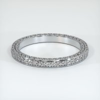 18K White Gold Gemstone Band - JB381W18