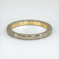 18K Yellow Gold Gemstone Band - JB381Y18