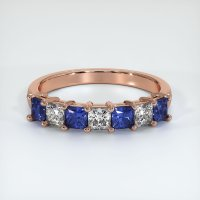 14K Rose Gold Gemstone Band - JB387R14