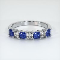 18K White Gold Gemstone Band - JB387W18