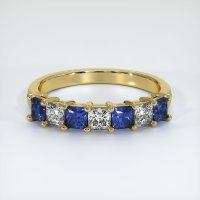18K Yellow Gold Gemstone Band - JB387Y18