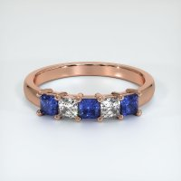 14K Rose Gold Gemstone Band - JB391R14
