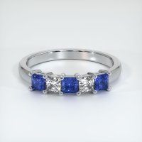 14K White Gold Gemstone Band - JB391W14